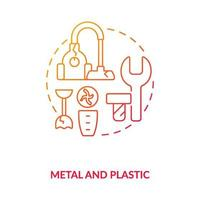 Metal and plastic concept icon vector