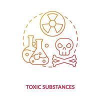 Toxic substances concept icon vector