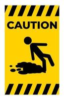Caution Beware Slippery Surface Symbol Isolate On White Background vector