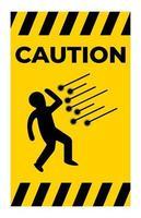 signo de símbolo de chispa de precaución aislar sobre fondo blanco vector