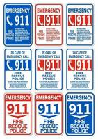 911 Fire Rescue Police Symbol Sign Isolate On White Background vector