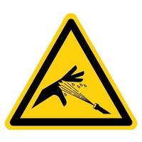 Skin Puncture Pressurized Water Jet Symbol Sign vector