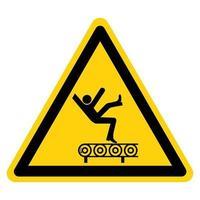 peligro de caída del signo de símbolo de transportador vector