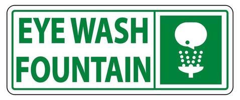 Eye Wash Fountain Sign vector