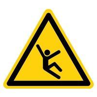 signo de símbolo de peligro de escalada vector