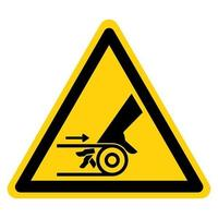 Hand Entanglement Belt Drive Symbol Sign vector