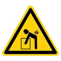 Lifting Hazard Symbol Sign vector