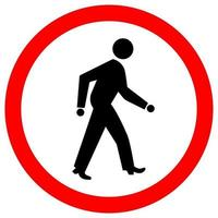 Pedestrian Crossing Road Sign vector