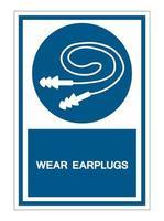 Wear Earplugs symbol vector