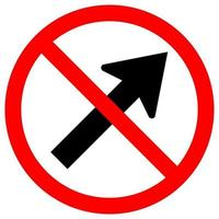 Prohibit Go To The Right By The Arrow Traffic Road Symbol Sign vector