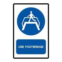 Use Footbridge Symbol Sign vector