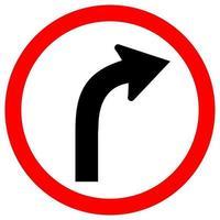 Curve Right Symbol Sign vector