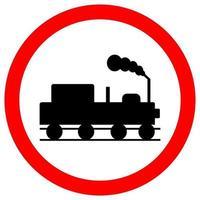 Train Railroad Traffic Road Sign vector