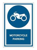 Motorcycle parking Symbol Sign vector