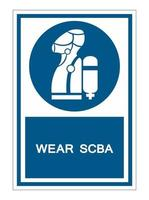 Wear SCBA Self Contained Breathing Apparatus Symbo vector