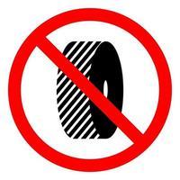 No cambie el signo de símbolo de muelas abrasivas sobre fondo blanco. vector