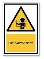 Use Safety Belts Symbol Sign vector