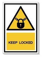 Keep Locked Symbol Sign vector