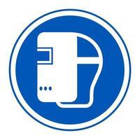 Symbol Wear Welding Helmet vector
