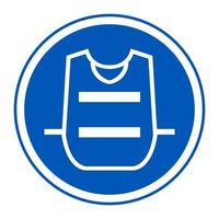 símbolo usar chaleco vector