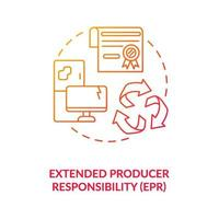 Extended producer responsibility concept icon vector