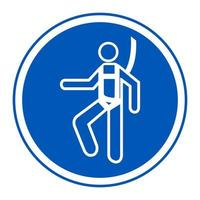 símbolo usar signo de arnés de seguridad vector