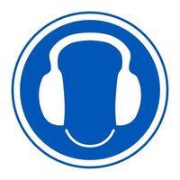 símbolo usar señal de protección auditiva vector