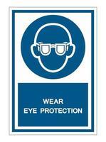 Symbol Wear Safety Glasses Sign vector
