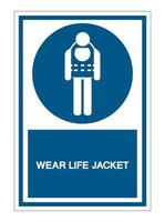 Symbol Wear Life Jacket vector