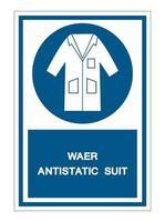 Wear Smock Symbol Sign vector