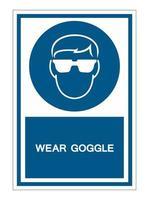 Wear Goggle Symbol Sign vector