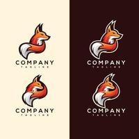 Abstract Colorful fox Logo design vector