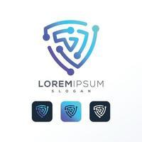 Abstract Colorful technology Logo design vector