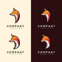 Abstract Colorful fox head Logo design vector