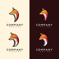 Abstract Colorful fox head Logo design vector