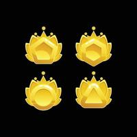 diseño de logotipo abstracto colorido adorno de oro conjunto de metal vector