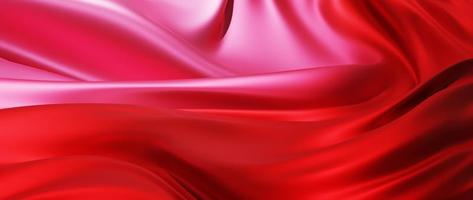 3d render of light and red silk photo