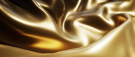 3d de seda oscura y dorada foto
