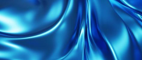 3d render of light and blue silk photo