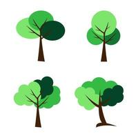symbols,tree icon set,Vector illustration vector