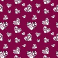 hermoso papel blanco corta el corazón con marco blanco. Hay muchos pequeños corazones blancos rodeados en un marco en forma de corazón. Ilustración vectorial vector