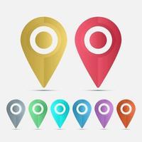 símbolo, conjunto, ubicación, icons., vector, ilustrador vector