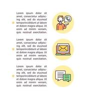 Contact seller or service provider concept line icons with text vector