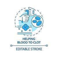 Helping blood to clot concept icon vector