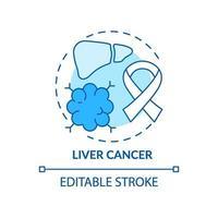 icono de concepto de cáncer de hígado vector
