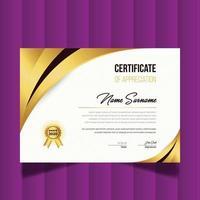 Modern Creative Certificate Of Appreciation. Certificate Design Template vector
