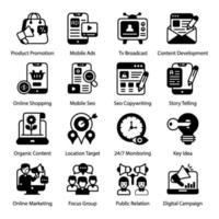 articulo online y marketing digital vector