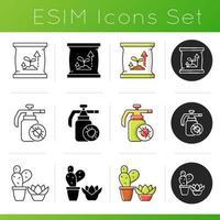 Conjunto de iconos de categorías de tienda de jardinería vector