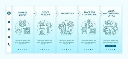 Workspace tendencies onboarding vector template