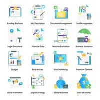 Financial Management and Digital Marketing vector